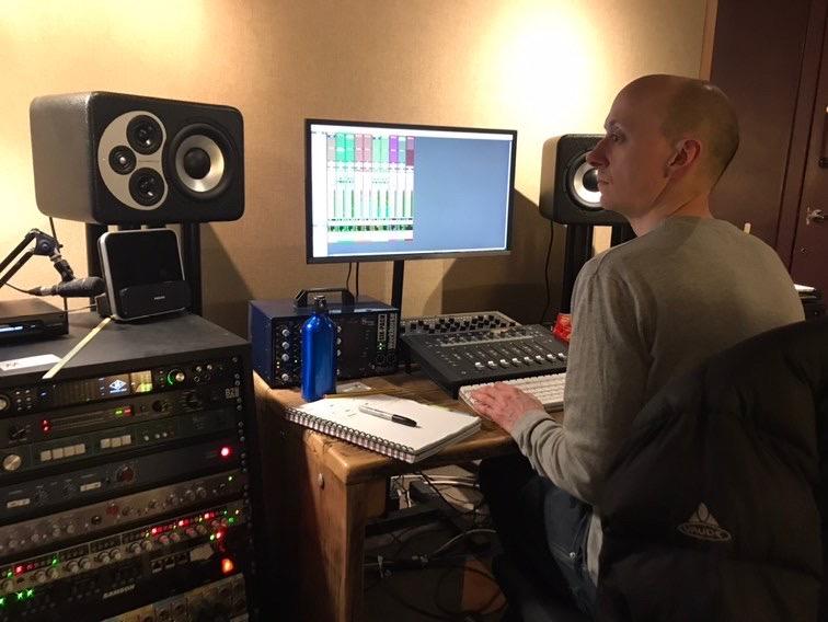 Recording in GloWorm studio 2